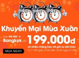 Vé máy bay giá rẻ đi Bangkok, Singapore chỉ 199K